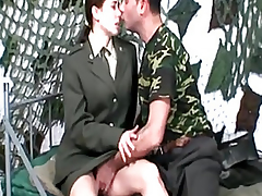 Army Gal Sucks Unstinting Weenies