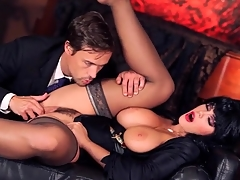 Alison Tyler dressed painless Elvira and sucking cock