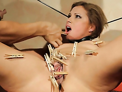 Unlighted Szilvia Lauren gets turned on then used