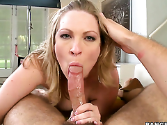 Enchanting mademoiselle Vicky Vixen makes studs sausage harder before getting her botheration fucked