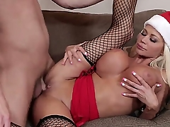 Its Christmas added to its life-span for Nikita Von James to open her present. Seth Gamble got her a nice bamboo stick with which he fucks her jolly little snatch.