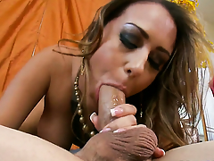 Horny tart Trina Michaels with huge breasts troubled by rock solid pole be incumbent on Ralph Long