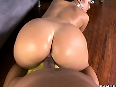 This big black dick fills up a hot to trot Hungarian brunette hottie