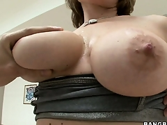 Velicity Von Pie likes horrific anal invasion coupled with using her tits for a titjob