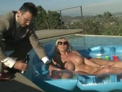 Big Tittied Tow-headed Fond Her Future Boss' Cock